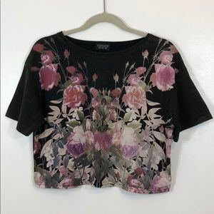 Topshop Floral Cropped Top
